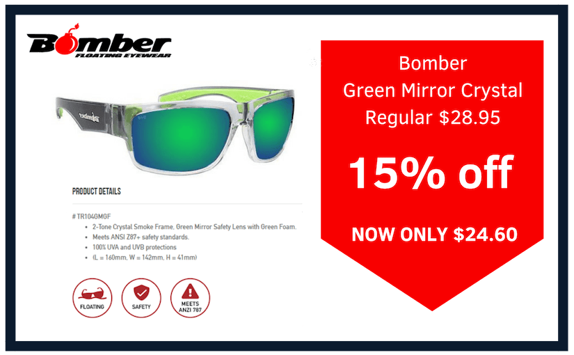 bomber eyewear green mirror crystal safety glasses on sale
